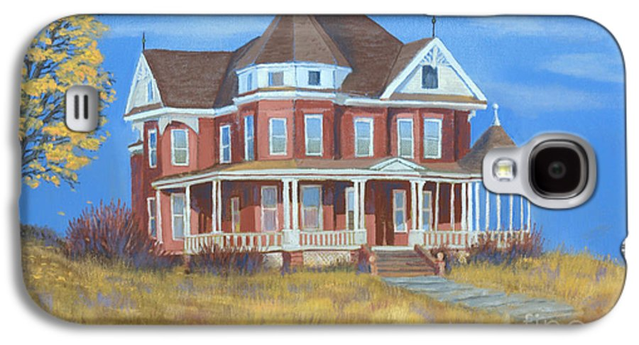 Boulder Galaxy S4 Case featuring the painting Boulder Victorian by Jerry McElroy