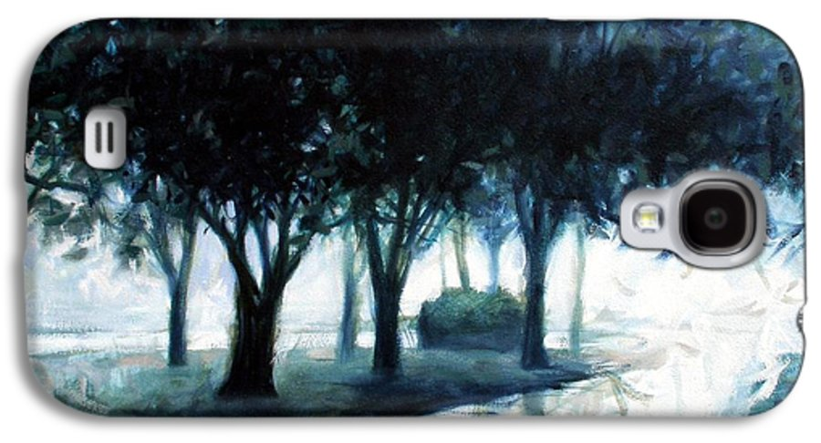 City Scape Galaxy S4 Case featuring the painting Boulevard by Kevin Lawrence Leveque