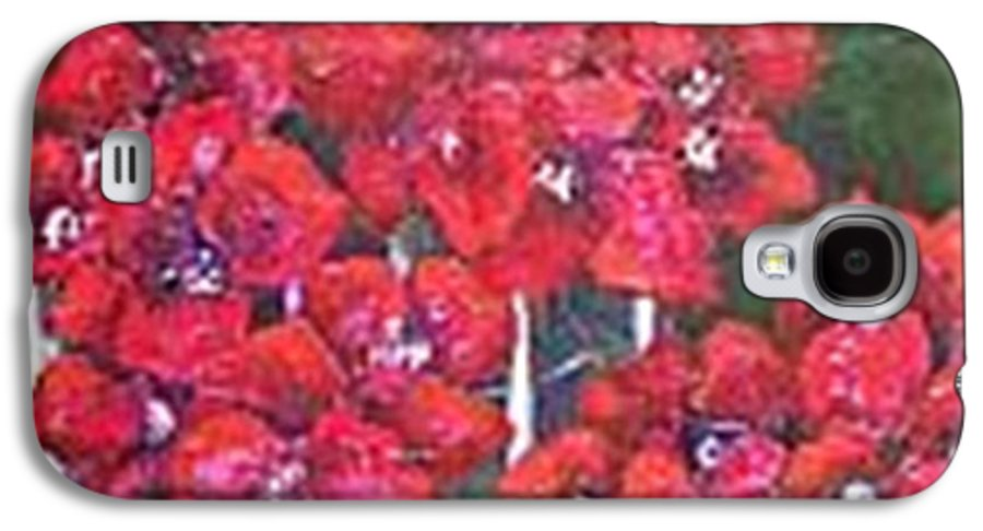 Galaxy S4 Case featuring the painting Bounganvillia On Fence by Carol P Kingsley