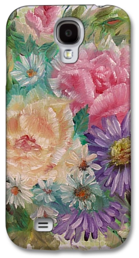 Rose Galaxy S4 Case featuring the painting Bouquet 2 by Quwatha Valentine