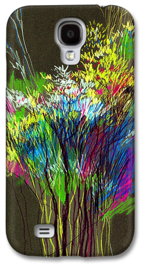 Flowers Galaxy S4 Case featuring the painting Bouquet by Anil Nene