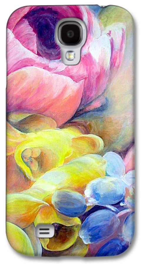 Flower Galaxy S4 Case featuring the painting Bouquet by Muriel Dolemieux