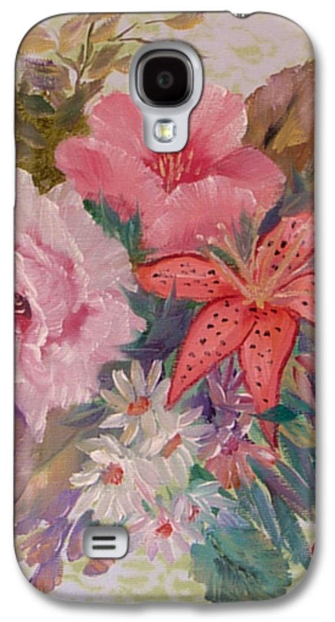 Rose Galaxy S4 Case featuring the painting Bouquet by Quwatha Valentine