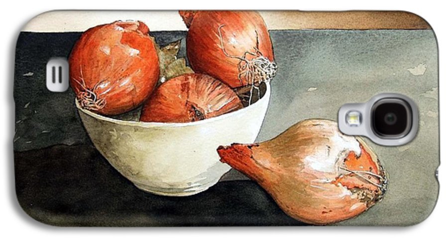 Still Life Galaxy S4 Case featuring the painting Bowl Of Onions by Paul Dene Marlor