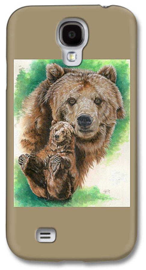 Bear Galaxy S4 Case featuring the mixed media Brawny by Barbara Keith