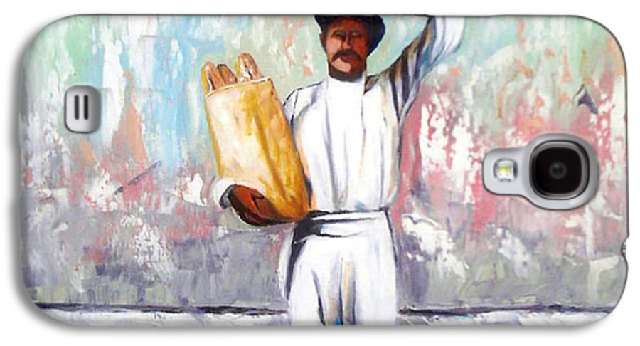 Bread Galaxy S4 Case featuring the painting Breadman by Jose Manuel Abraham