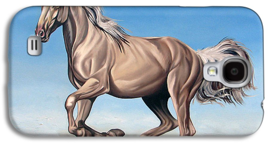 Horse Galaxy S4 Case featuring the painting Breeze by Ilse Kleyn
