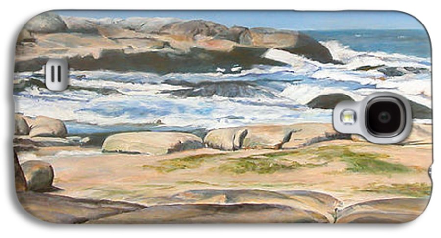 Paysage Galaxy S4 Case featuring the painting Bretagne 2 by Muriel Dolemieux