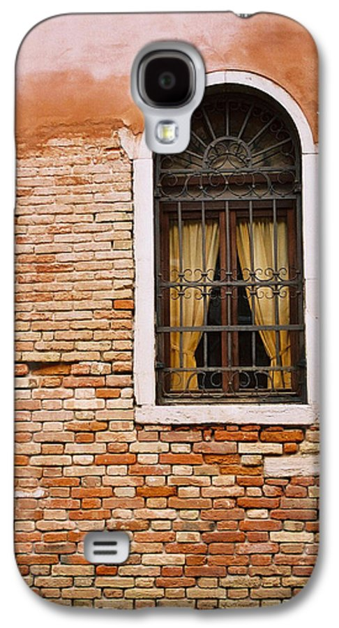 Window Galaxy S4 Case featuring the photograph Brick Window by Kathy Schumann