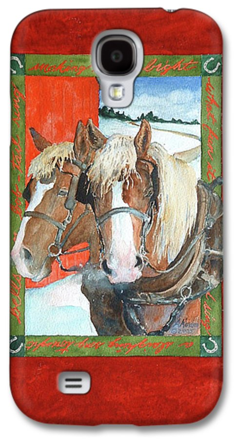 Horses Galaxy S4 Case featuring the painting Bright Spirits by Christie Michelsen