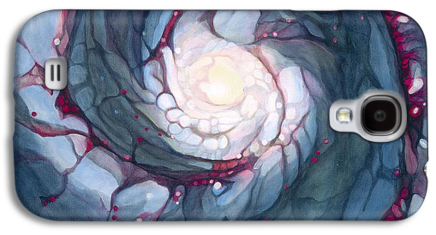 Brigid Galaxy S4 Case featuring the painting Brigid The Goddess Of Fire Poetry And Healing by Antony Galbraith