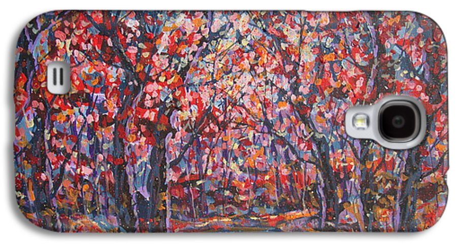 Forest Galaxy S4 Case featuring the painting Brilliant Autumn. by Leonard Holland