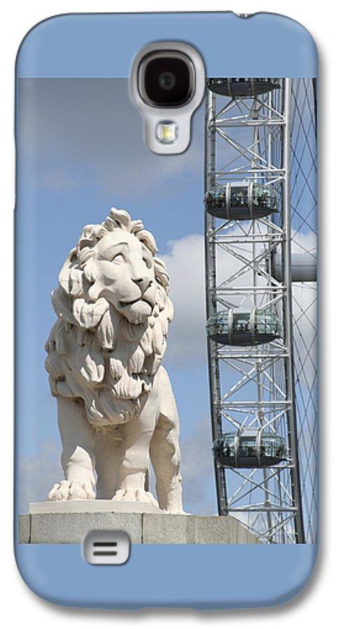 Lion Galaxy S4 Case featuring the photograph Britannia Lion by Margie Wildblood