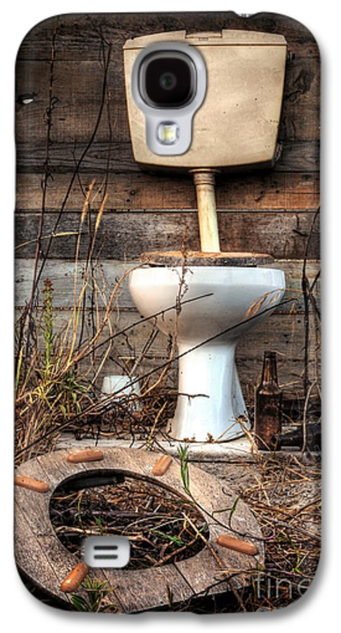 Abandoned Galaxy S4 Case featuring the photograph Broken Toilet by Carlos Caetano