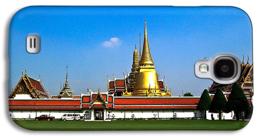 Buddha Galaxy S4 Case featuring the photograph Buddhaist Temple by Douglas Barnett