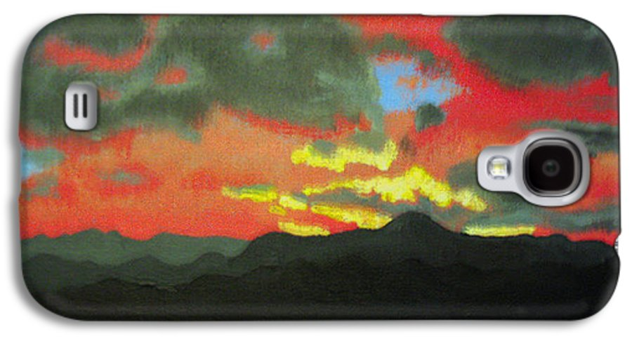 Sunset Galaxy S4 Case featuring the painting Buenas Noches by Marco Morales