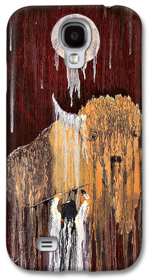 Native Art Galaxy S4 Case featuring the painting Buffalo Spirit by Patrick Trotter