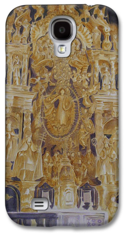 Saints Galaxy S4 Case featuring the painting Builders' Guild by Nik Helbig