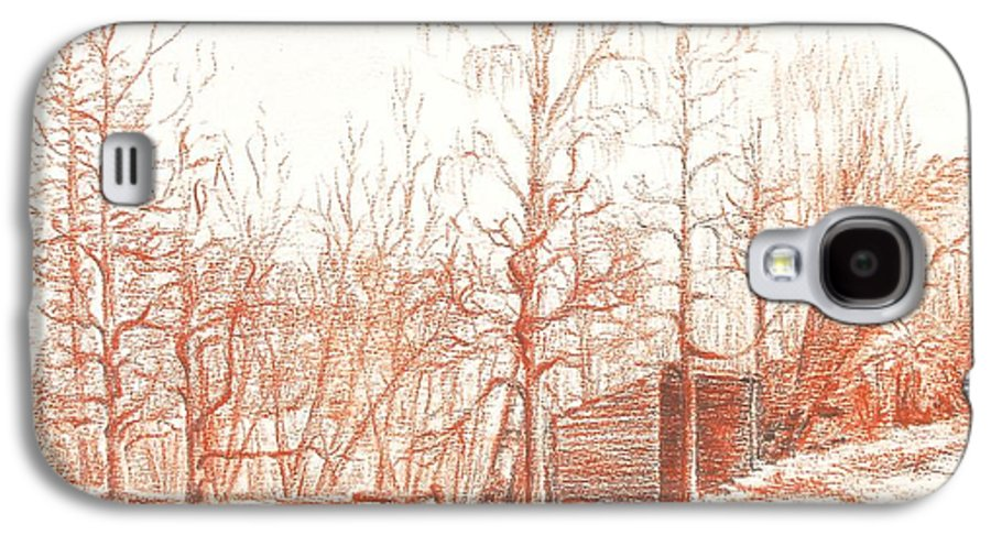 Landscape Galaxy S4 Case featuring the drawing Bullion by Muriel Dolemieux