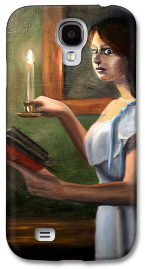 Night Galaxy S4 Case featuring the painting Bump In The Night by Maryn Crawford