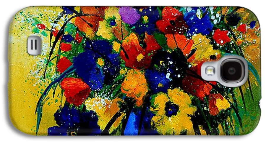 Poppies Galaxy S4 Case featuring the painting Bunch 0508 by Pol Ledent