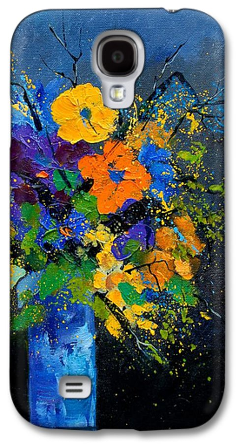 Poppies Galaxy S4 Case featuring the painting Bunch 1007 by Pol Ledent