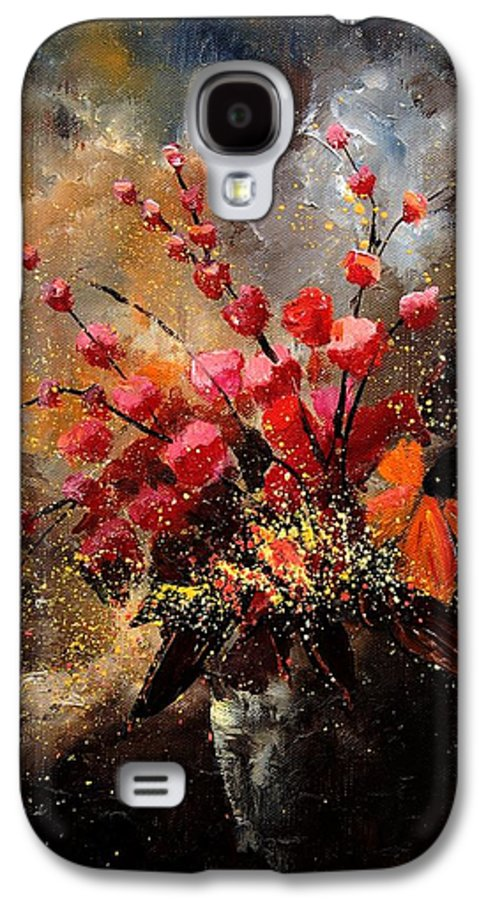 Poppies Galaxy S4 Case featuring the painting Bunch 1207 by Pol Ledent