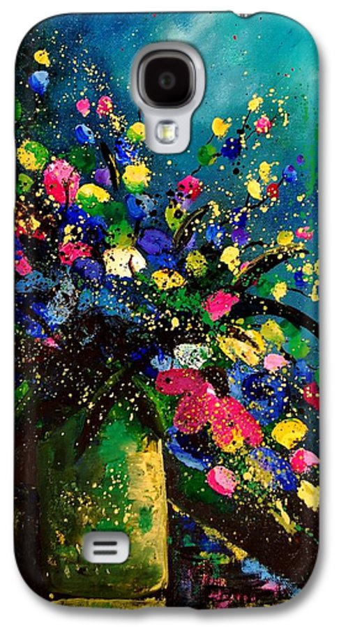 Poppies Galaxy S4 Case featuring the painting Bunch 45 by Pol Ledent