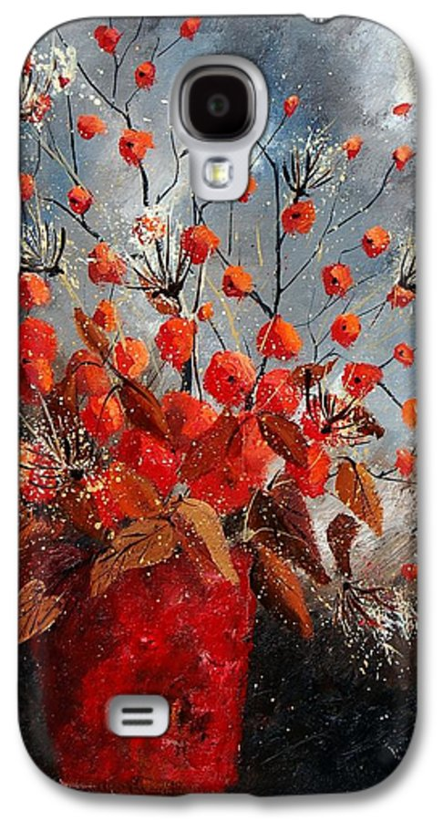 Flowers Galaxy S4 Case featuring the painting Bunch 560608 by Pol Ledent