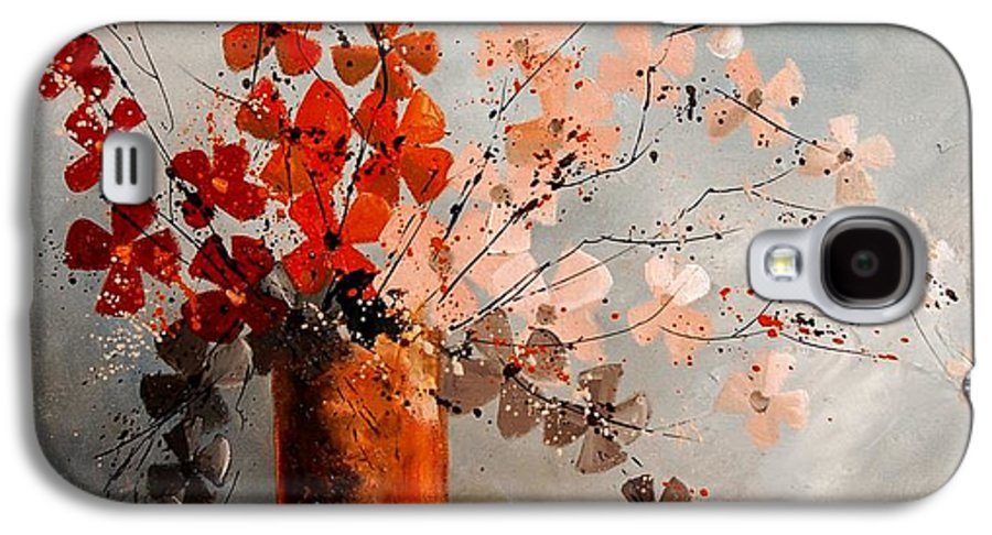 Flowers Galaxy S4 Case featuring the painting Bunch 670908 by Pol Ledent