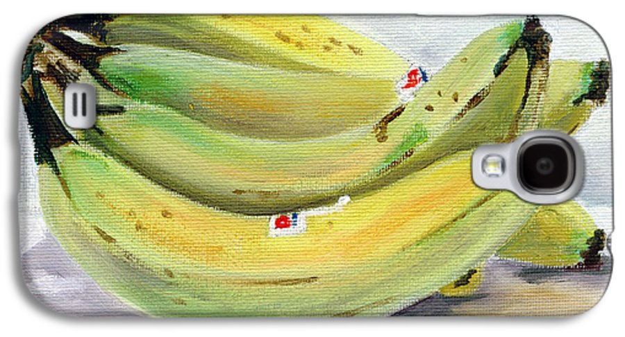 Still-life Galaxy S4 Case featuring the painting Bunch Of Bananas by Sarah Lynch