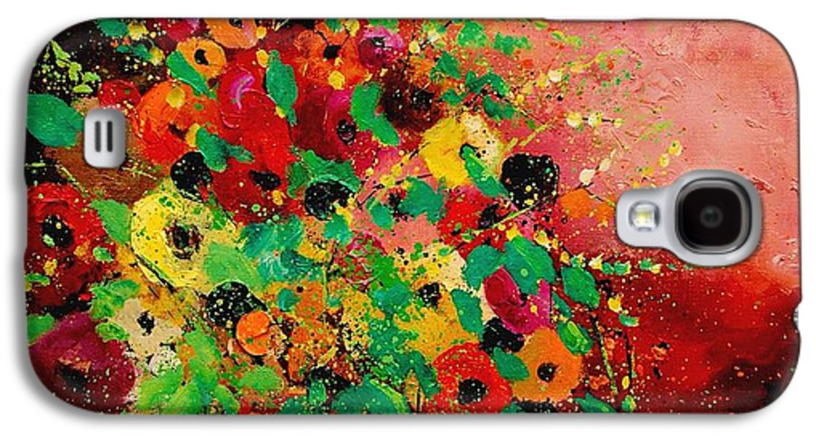Flowers Galaxy S4 Case featuring the painting Bunch Of Flowers 0507 by Pol Ledent