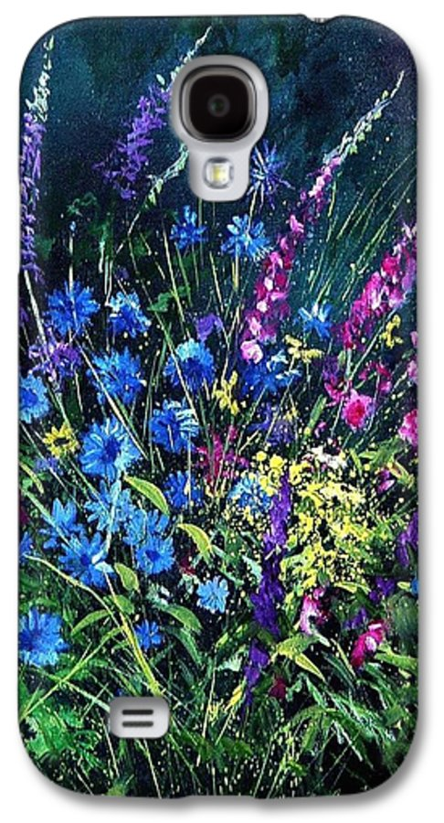 Poppies Galaxy S4 Case featuring the painting Bunch Of Wild Flowers by Pol Ledent
