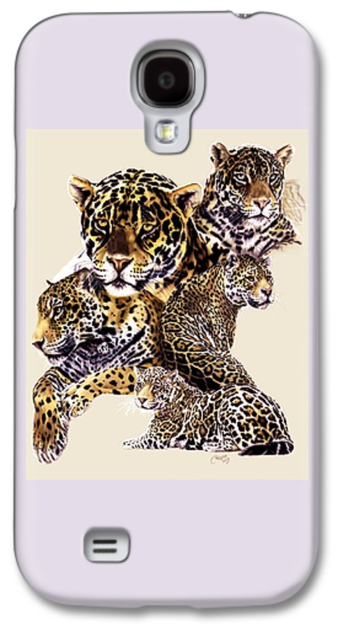 Jaguar Galaxy S4 Case featuring the drawing Burn by Barbara Keith