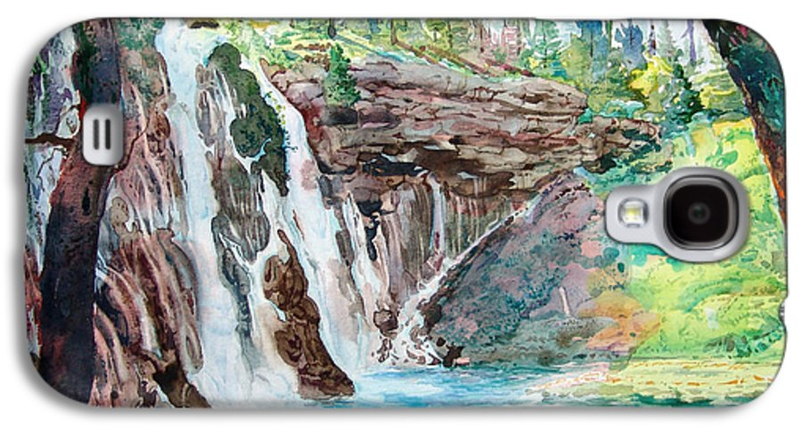 Watercolor Galaxy S4 Case featuring the painting Burney Falls by John Norman Stewart