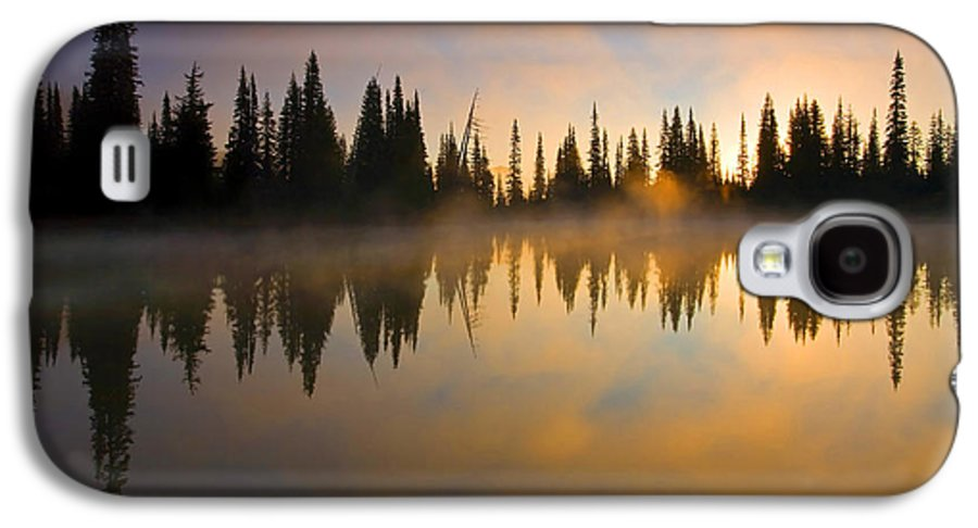 Lake Galaxy S4 Case featuring the photograph Burning Dawn by Mike Dawson