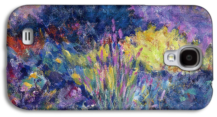 Impressionism Galaxy S4 Case featuring the painting Burst Of Color-last Night In Monets Gardens by Tara Moorman