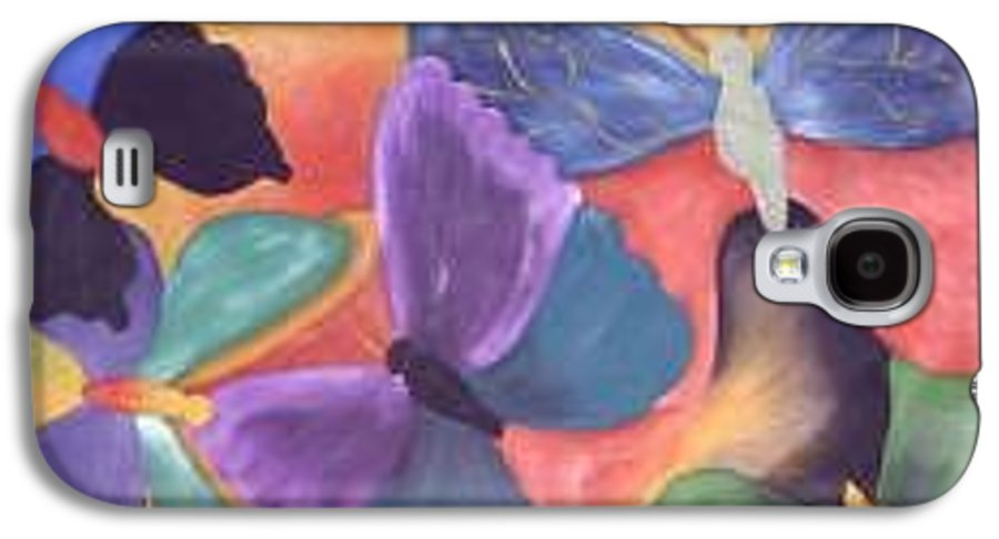 Butterfly Painting With Focus On Colors Galaxy S4 Case featuring the painting Butterfly Painting by M Brandl