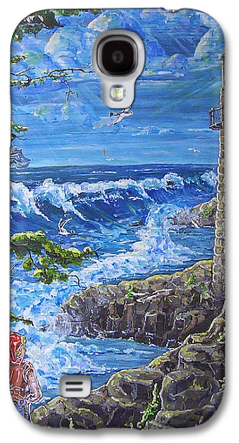 Seascape Galaxy S4 Case featuring the painting By The Sea by Phyllis Mae Richardson Fisher