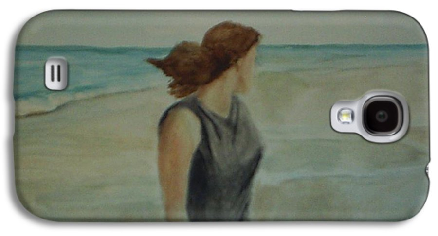 Ocean Galaxy S4 Case featuring the painting By The Sea by Sheila Mashaw