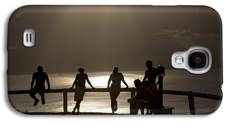Byron Bay Lighthouse Silhouette Sunset Rays Galaxy S4 Case featuring the photograph Byron Bay Lighthouse by Sheila Smart Fine Art Photography
