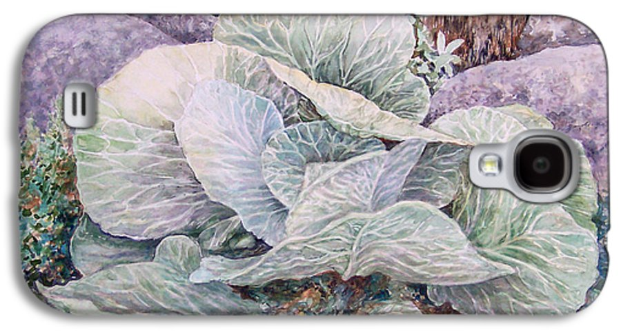 Leaves Galaxy S4 Case featuring the painting Cabbage Head by Valerie Meotti
