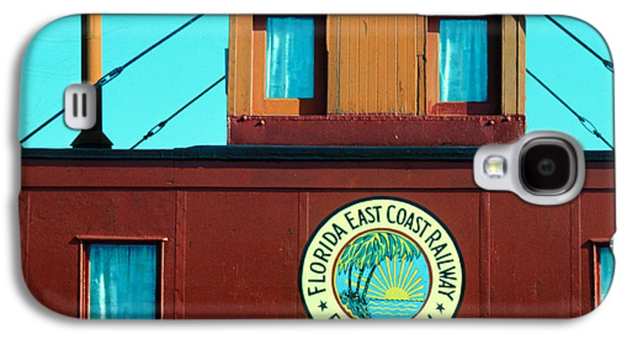 Florida Keys Train Railroad Galaxy S4 Case featuring the photograph Caboose by Carl Purcell