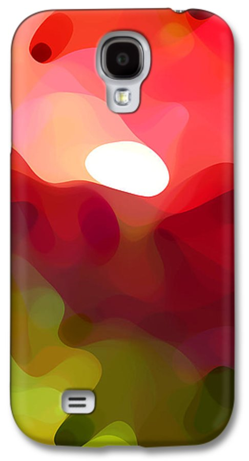 Abstract Art Galaxy S4 Case featuring the painting Cactus Resting by Amy Vangsgard