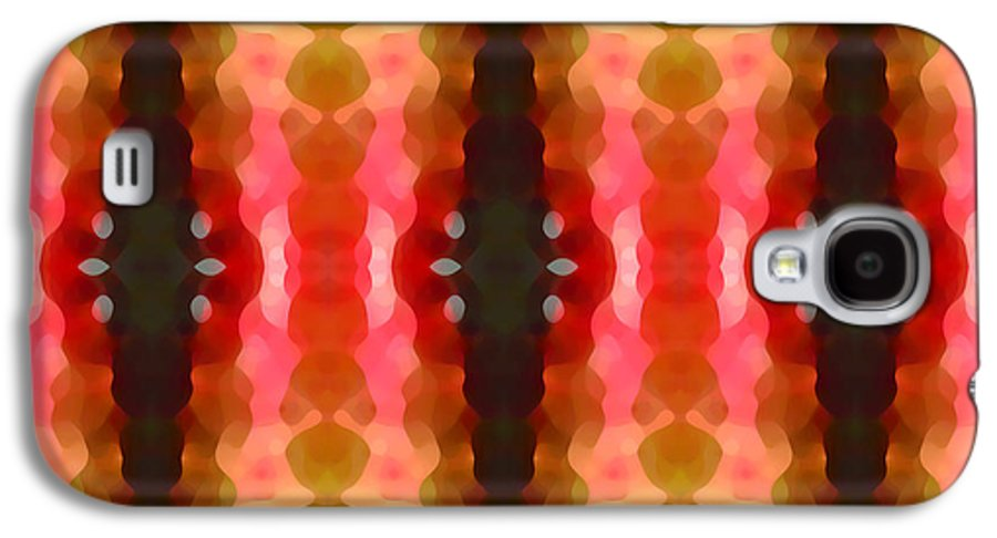 Abstract Galaxy S4 Case featuring the painting Cactus Vibrations 2 by Amy Vangsgard
