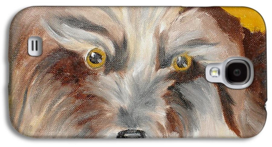 Dog Galaxy S4 Case featuring the painting Cairn Terrier by Susan Kubes