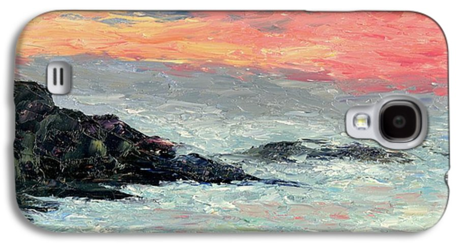 Seascape Galaxy S4 Case featuring the painting California Coast by Gail Kirtz