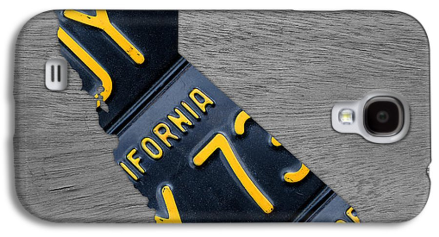 California License Plate Map Black 1963 Plates Recycled Vintage Art Galaxy  S4 Case