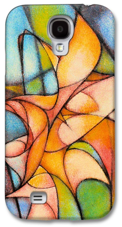 Contemporary Galaxy S4 Case featuring the painting Calla Lillies by Kevin Lawrence Leveque