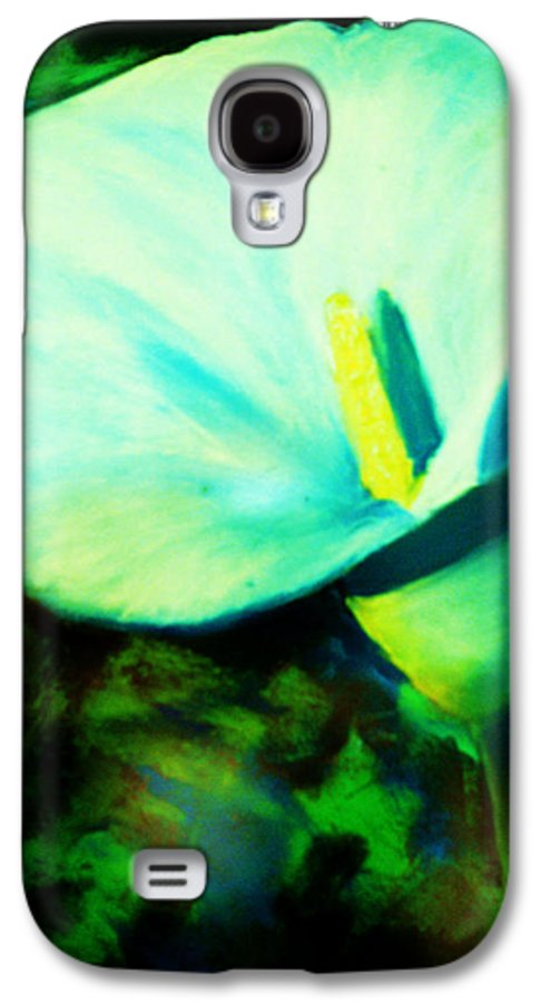 White Calla Lily Galaxy S4 Case featuring the painting Calla Lily by Melinda Etzold